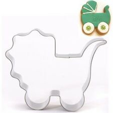 Stainless Steel Baby Carriage Cookie Cutter Cake Baking Biscuit Pastry Mould