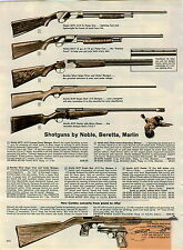 1963 PAPER AD Noble M70 Beretta Silver Snipe Shotgun Marlin Golden 37 A Rifle