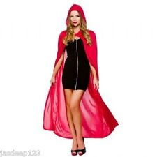 "Adult Unisex Hooded Cape 52"" Halloween Fancy Dress Outfit Costume 4 Colours"