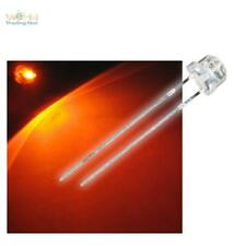 50x 4,8mm LED orange Flathead, wide BEAM ANGLE Light emitting diodes + Resistor
