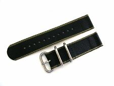NATO ® EDGE™ 2pc Military strap HD Nylon UTC-zulu Sport Dive watchband IW SUISSE