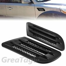 CAR SIDE AIR FLOW VENT FENDER BODY EXTERIOR DECORATION STICKER BLACK SIDE COVER