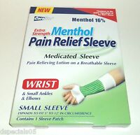 Coralite X Strength Menthol Pain Relief Wrist Ankles Elbows Sleeve SM NIB