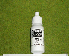 Vallejo Model Color MATT WHITE Acrylic Paint 70951