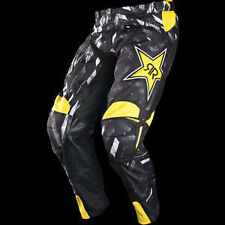 Answer A12 Rockstar Motocross/Dirt-Bike Pants (Black-Yellow) 32