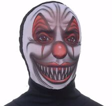 Scary Clown Mask Evil Adult Disappearing Man Hood Black Morph Costume - Fast -