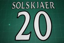 Manchester United 99/02 #20 SOLSKJAER UEFA ChaimponsLeague HomeKit Nameset Print