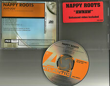 NAPPY ROOTS Awnaw w/ RARE CLEAN & INSTRUMENTAL TRX PROMO DJ CD single 2001