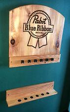 New Pabst Blue Ribbon pbr Wall Mount Billiards Pool Cue Stick Rack