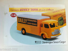 Dinky Toys Atlas - Fascicule SEUL Simca Cargo Déménageur Bailly (Booklet only)