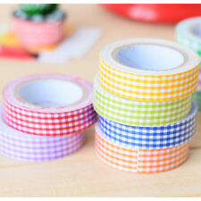 15mm Fabric Washi DIY Tape Grid Crafts Adhesive Paper Book Sticker Decoration