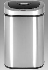 Motion Sensor Trash Can Automatic Open Hands Free Stainless Steel 21 Gallon