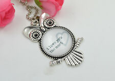 "Owl Shape ""I Love You To The Moon And Back""  Silver style Necklaces & Pendants"