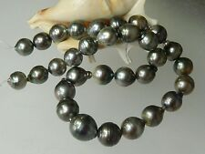 "RARE SALTWATER BLACK TAHITIAN SOUTH SEA PEARLS 15.75"" STRAND 11-17mm BAROQUE"
