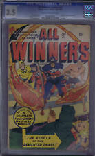 All Winners Comics #21 Timely1946-47 CGC 3.5 (VG-) All Winners Squad,SCARCE!!