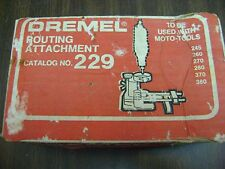 VINTAGE DREMEL ROUTING ATTACHMENT NO. 229 IN ORIGINAL BOX WITH INSTRUCTIONS