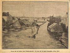 49 LES PONTS-DE-Cé INONDATION RUE DE LA GARE ILLUSTRATION 1923