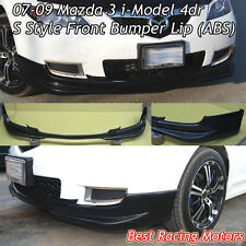 07-09 Mazda 3 4dr i-Model S Style Front Bumper Lip (ABS)
