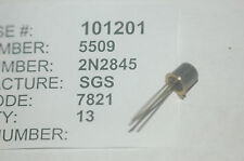 SGS 2N2845 Bipolar Junction Transistor NPN Type TO-18 New Lot Quantity-2