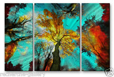 Abstract Trees Metal Wall Art Sculpture Painting USA Made Home Decor