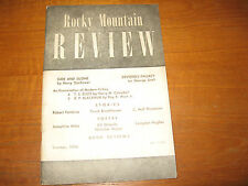 1944 Rocky Mountain Review Langston Hughes, Orlovitz, Ray B. West, Jr., Others