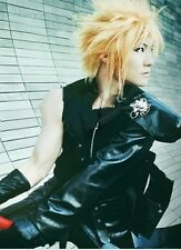 Final Fantasy VII Cloud Strife Short Blonde Anime Cosplay Wig + hairnet
