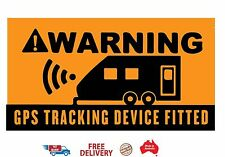 Caravan Security Stickers WARNING GPS Tracking Device Fitted UV Laminated