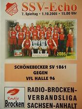 Programm 2005/06 Schönebecker SV 1861 - VfL Halle 96