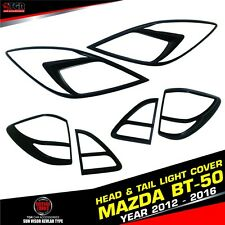MAZDA BT-50 PRO MATTE BLACK HEADLIGHT TAILLIGHT FRONT REAR LAMP COVER 2012-2016