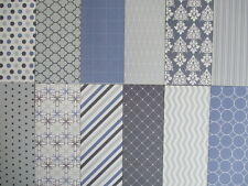 "Dovecraft Back to Basics Blue Skies 12 sheets 6x6""  Scrapbook backing Papers"