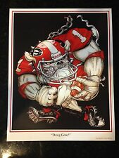 "University of Georgia Bulldogs Football Dave Helwig ""Dawg Gone"" art Aaron Murray"