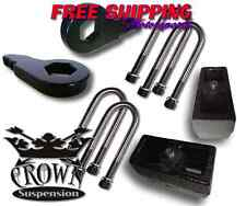 "Crown Suspension 1997-2003 Ford F150 3""F/3""R Lift Kit Adj Torsion Bars Block"