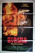 RISING STORM 1S ONE SHEET MOVIE POSTER 1989 ZACH GALLIGAN JUNE CHADWICK OUTLAWS