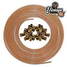 "**LAND ROVER** 3/16"" X 25 FT SOFT 22G COPPER BRAKE PIPE +20 NUTS"