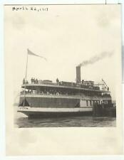 1917 photo of the S S Promise, a Detroit Michigan Great Lakes Ferry Boat; Bob-Lo