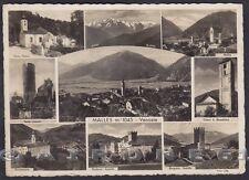 BOLZANO BOZEN MALLES VENOSTA 05 MALS VEDUTINE Cartolina FOTOGRAFICA viagg. 1937