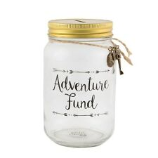 Holiday Travel Savings Jar Adventure Fund Piggy Bank Money Box Tin Wanderlust
