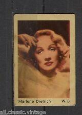 Marlene Dietrich Vintage Movie Film Star Trading Card Warner Bros