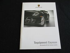 2008 Porsche Cayman & S Tequipment Brochure Wheel Wood Carbon Accessory Catalog