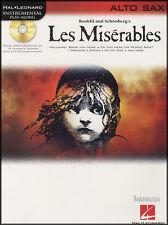 Les MISERABLES strumentale PLAY-Lungo Alto Sax Spartiti Musicali LIBRO/CD Set