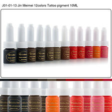 Golden Rose Permanent Eyebrow Lip Makeup Pigment 10ML 12 Colors Tattoo Ink Set