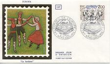 Enveloppe 1 er jour 1981 PYRENNEES-ORIENTALES danseurs catalans la sardane
