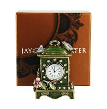 JAY STRONGWATER SONGBIRD GREEN CLOCK SWAROVSKI NEW ORIGINAL BOX MADE IN USA # 4