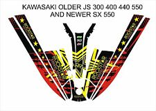 kawasaki 550 sx js 300 400 440 jet ski wrap graphics pwc stand up jetski decal 1