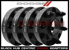 "4 Pc 1.25"" Thick Dodge Black Hub Centric Wheel Spacers - Dakota Durango Ram"