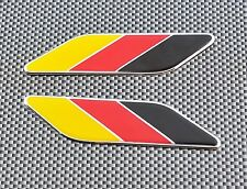 2 x GERMAN  FLAG DECAL TRI-COLOR EMBLEM BADGE FOR PORSCHE AUDI VW BMW MERCEDES