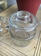 Pyrex Vintage Flame Ware Glass 9 Cup Coffee Percolator Mid Century Stove Top