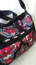 NWT!  LeSportsac Large Weekender No Po - Romanian Rose, #2211-D507
