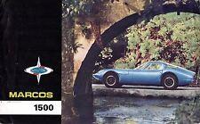 Marcos 1500 1966-67 UK Opuscolo Vendite sul Mercato PIEGA