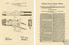 WINCHESTER 1886 LEVER ACTION PATENT Art Print READY TO FRAME!! John Browning Gun